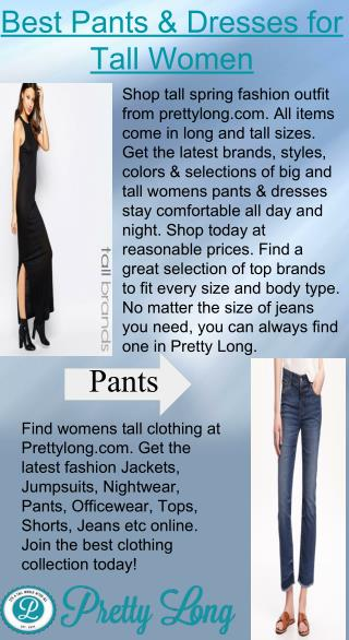 Best Pants & Dresses for Tall Women