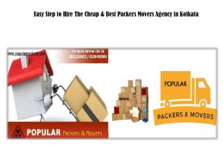 Easy Step to Hire The Cheap & Best Packers Movers Agency in Kolkata