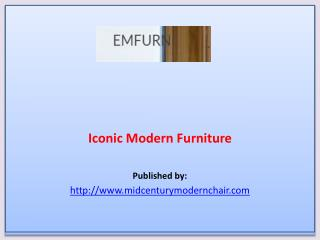 Iconic Modern Furniture