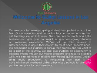 Online  Music Lessons In Los Angeles by Take Sessions