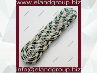 PLY Silver And Green Shoulder Cord