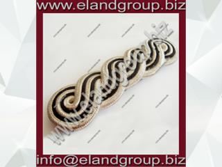 PLY Silver Black Shoulder Cord