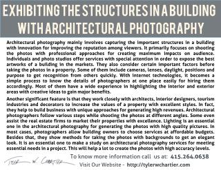 Exhibiting the Structures in a Building with Architectural Photography