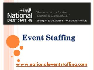 Event Staffing - www.nationaleventstaffing.com