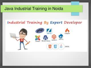 Java Industrial Training in Noida