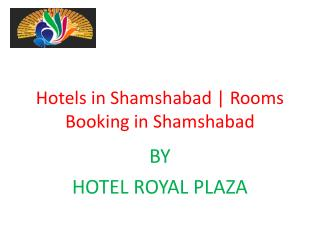 Hotels in Shamshabad | Rooms Booking in Shamshabad
