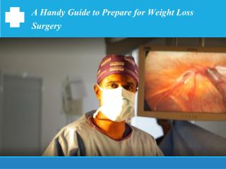 A Handy Guide to Prepare for Weight Loss Surgery