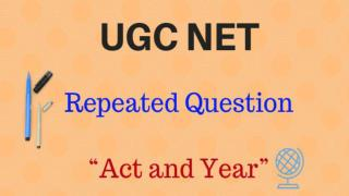 UGC NET Repeated Question