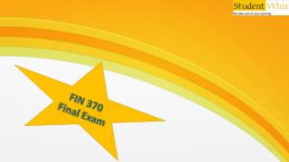 FIN 370 week 5 final exam answers - Studentwhiz