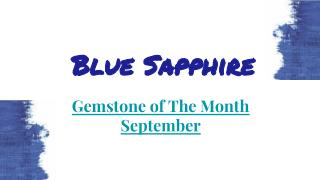 Blue Sapphire Gemstone Jewellery