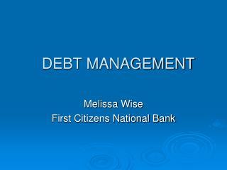 Debt Management PowerPoint