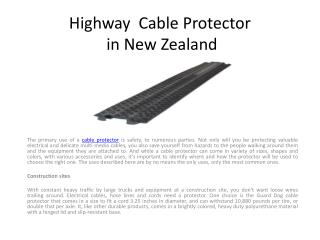 Highway  Cable Protector in New Zealand