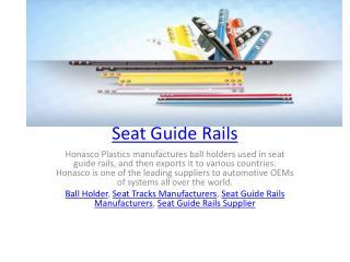 Seat Guide Rails