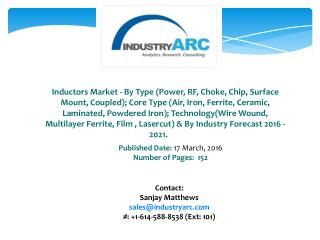 Inductors Market: power transmission and telecommunications are major applications of Inductor.