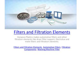 Filters and Filtration Elements