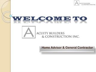 Acuity Builders and Constructions Company in Phoenix, AZ