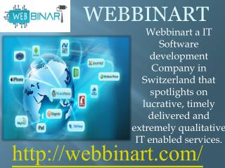 Webbinart is a application development company in Switzerland.