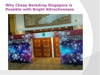 Backdrop Singapore