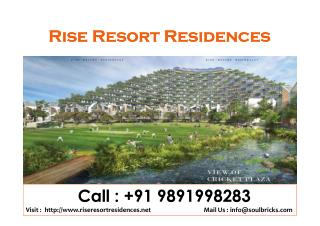 Rise Resort Residences 9891998283 Classic Golf Mansions Villas Noida