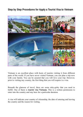 Step by Step Procedures for Apply a Tourist Visa to Vietnam