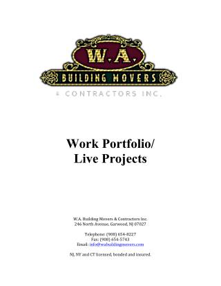 Live Projects - W.A. Building Movers
