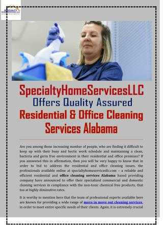 Office Cleaning Services Alabama