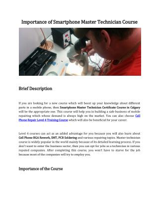 Cell Phone Repair Training Course in Toronto