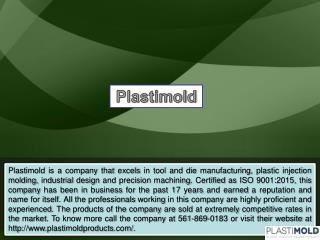 Specializing in Plastic Injection Molding