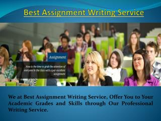 Best Assignment Writing Service