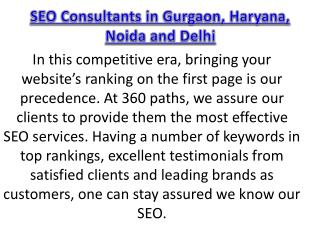 SEO Consultants in Gurgaon, Haryana, Noida and Delhi