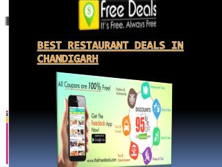 Restaurant Deals In Tricity