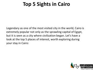 fly to cairo