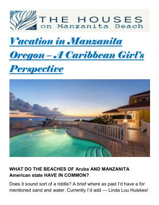 Vacation in manzanita oregon – a caribbean girl's perspective