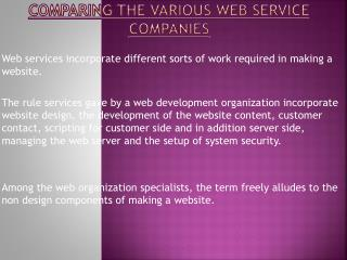 Choose Best Web service Company