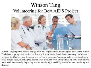 Winson Tang - Volunteering for Beat AIDS Project