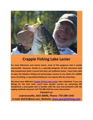 Crappie Fishing Lake Lanier