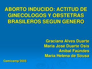 ABORTO INDUCIDO: ACTITUD DE GINECOLOGOS Y OBSTETRAS BRASILEROS SEGUN GENERO