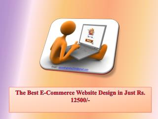 The Best E-Commerce Website Design in Just Rs. 12500/-