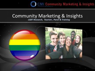 CMI LGBT Research, Tourism, Panel and Training