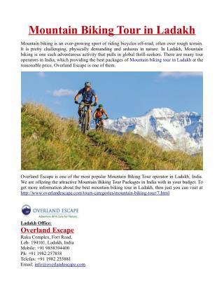 Mountain Biking Tour in Ladakh