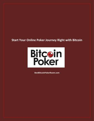 Start Your Online Poker Journey Right with Bitcoin