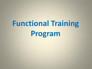 The Real Benefits of Functional Training