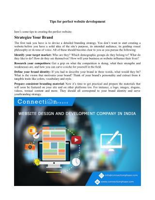 Tips for website development