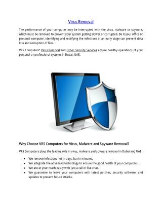 Virus Removal Services Dubai