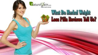 What Do Herbal Weight Loss Pills Reviews Tell Us?
