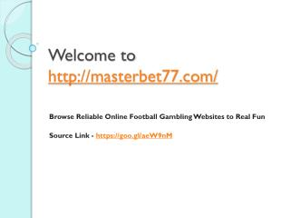 Browse Reliable Online Football Gambling Websites to Real Fun