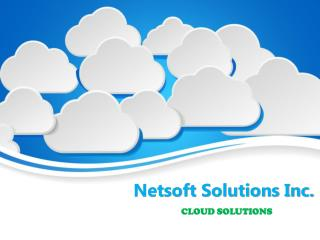 Netsoft Cloud Solutions Services