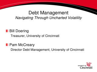 Debt Management: Navigating through Uncharted Volatility