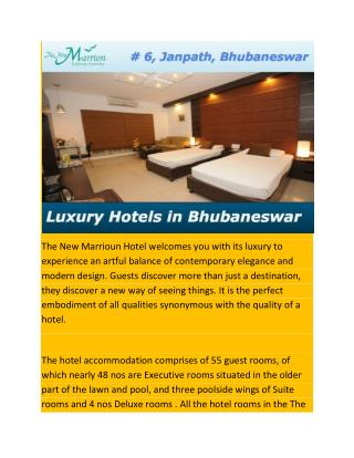 Luxury Hotels in Bhubaneswar