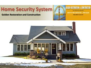 Home Security System Marin County